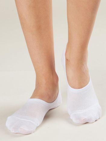 Białe stopki damskie 3-pak