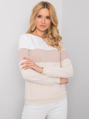 Biało-beżowa bluza Larice RUE PARIS