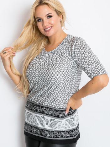 Biało-czarna bluzka plus size Better