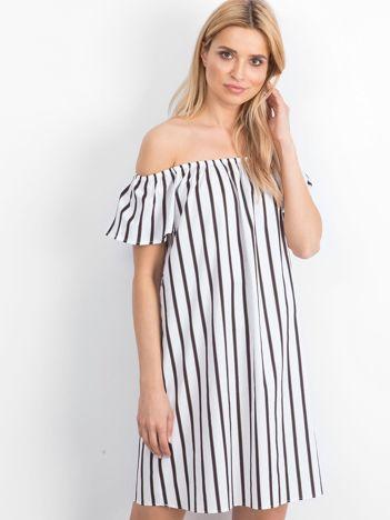 Biało-czarna sukienka Santos