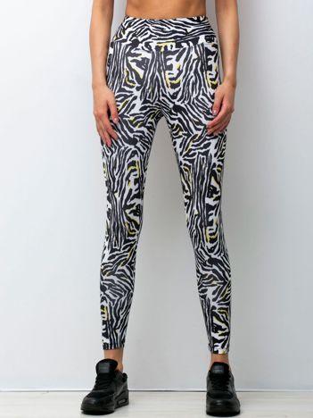 Biało-czarne legginsy Afternoon