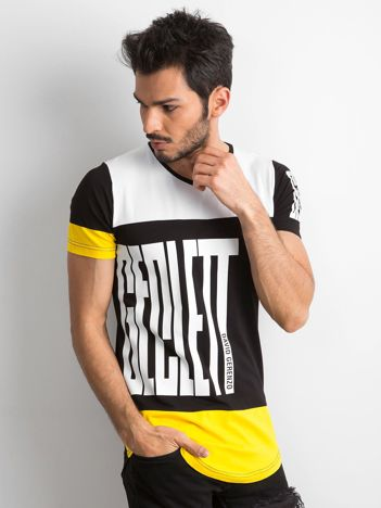 Biało-czarny męski t-shirt