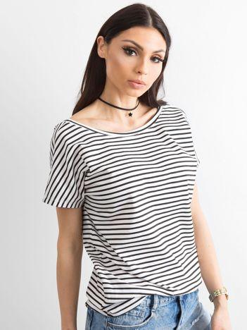 Biało-czarny t-shirt Morning