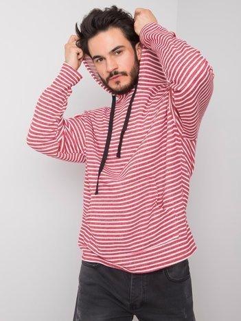 Biało-czerwona bluza z kapturem Jeffrey