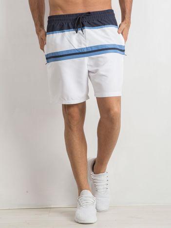 Biało-niebieskie męskie spodenki Stubborn
