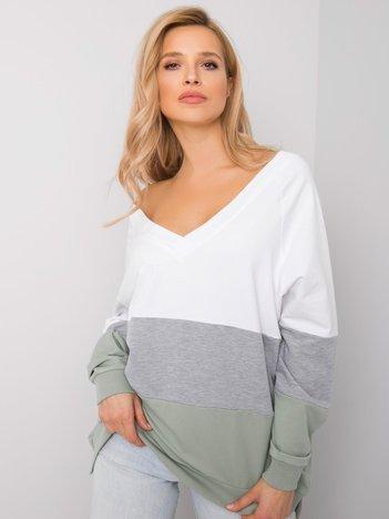 Biało-pistacjowa bluza Lotta RUE PARIS