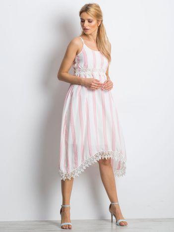 Biało-różowa sukienka Acceptable