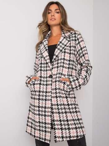 Biało-różowy płaszcz damski Jazmyn RUE PARIS
