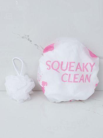 Biało-różowy zestaw kąpielowy