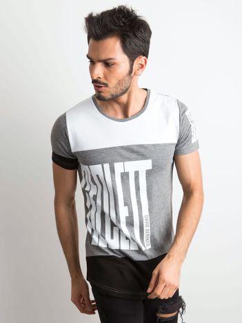 Biało-szary męski t-shirt