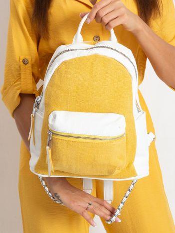 Biało-żółty plecak