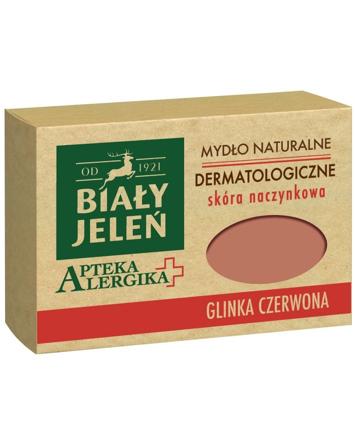 Biały Jeleń Apteka Alergika Mydło naturalne Glinka Czerwona - skóra naczynkowa 125g