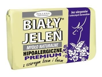 Biały Jeleń Mydło w kostce hipoalergiczne Premium z czarnym bzem 100 g