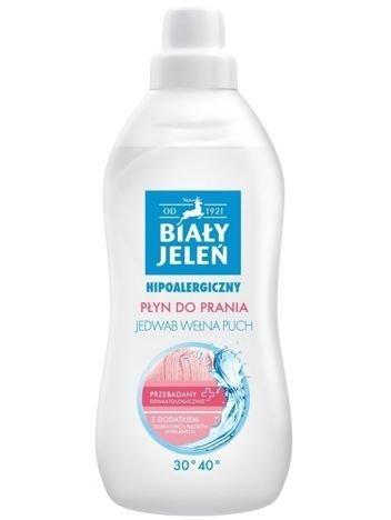 Biały Jeleń Płyn do prania tkanin hipoalergiczny Delikatnych 1 l