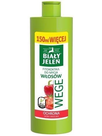 Biały Jeleń Wege Fitokoktajl do mycia włosów ochronny Pomidor i Papryka  250 ml