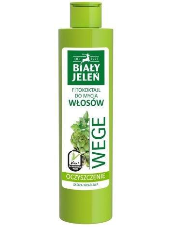 Biały Jeleń Wege Fitokoktajl do mycia włosów oczyszczający Pietruszka i Karczoch  250 ml
