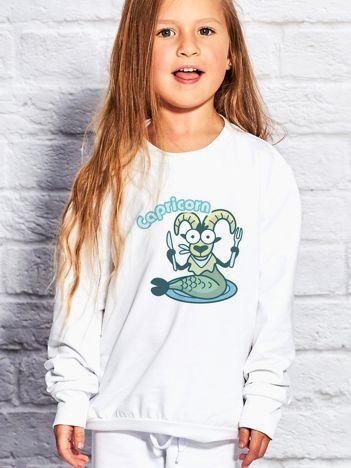 Biały bluza dziecięca znak zodiaku KOZIOROŻEC