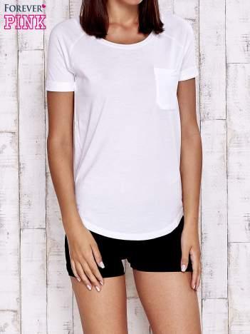 Biały gładki t-shirt basic