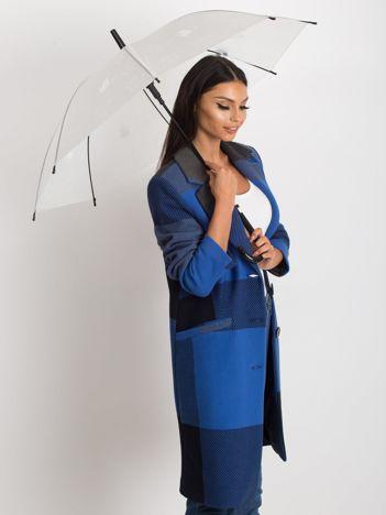 Biały parasol z nadrukiem