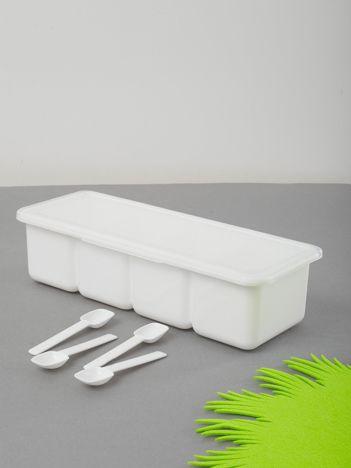 Biały pojemnik na przyprawy