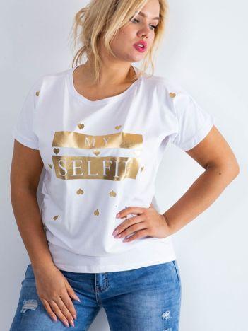 Biały t-shirt Absolute PLUS SIZE