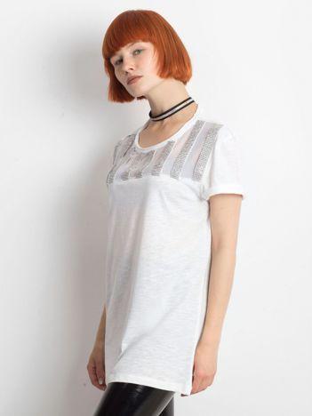 Biały t-shirt Breathin