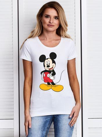 Biały t-shirt DISNEY Myszka Miki