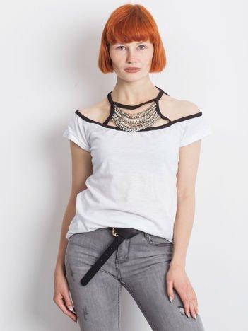 Biały t-shirt Londoner