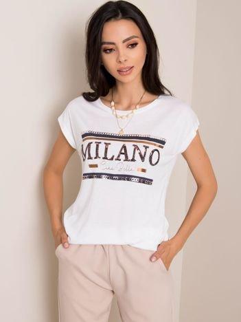 Biały t-shirt Milano SUBLEVEL