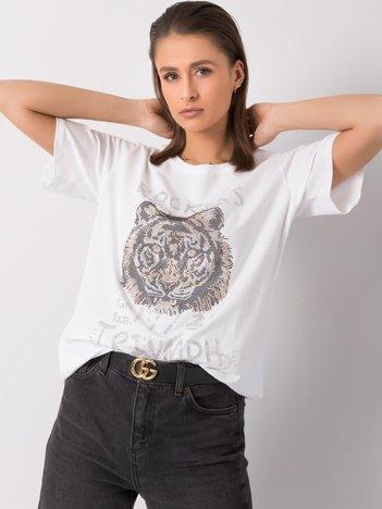 Biały t-shirt Morgan