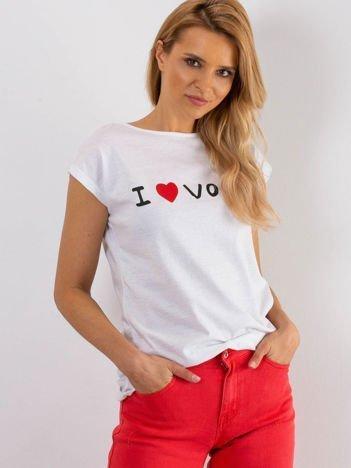 Biały t-shirt Parisien