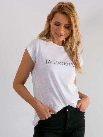 Biały t-shirt Presence