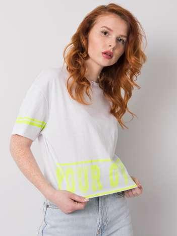 Biały t-shirt bawełniany Shelby