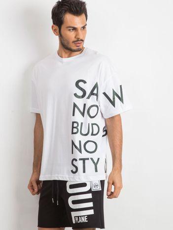 Biały t-shirt męski Somehow