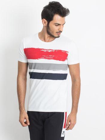 Biały t-shirt męski TOMMY LIFE