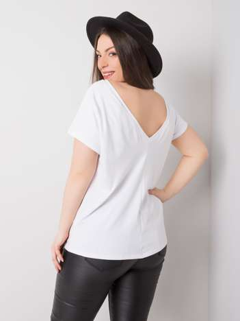 Biały t-shirt plus size Beverly