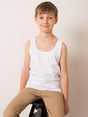Biały top dla chłopca