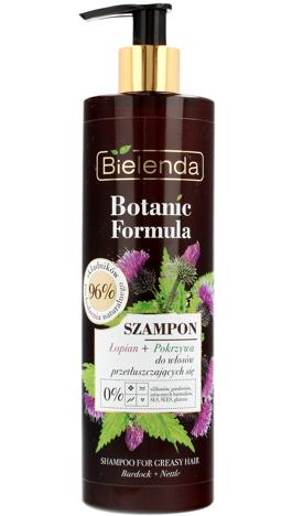 Bielenda Botanic Formula Łopian+Pokrzywa Szampon do włosów przetłuszczających się 400ml