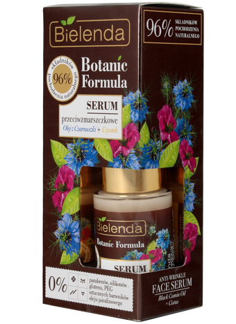 Bielenda Botanic Formula Olej z Czarnuszki+Czystek Serum przeciwzmarszczkowe na dzień i noc 15ml