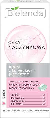 Bielenda Cera Naczynkowa Krem z korygującym pigmentem na dzień 50 ml