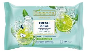 """Bielenda Fresh Juice Chusteczki micelarne z wodą cytrusową Limonka 1op.-20szt"""""""