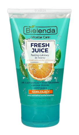 Bielenda Fresh Juice Peeling cukrowy nawilżający z wodą cytrusową Pomarańcza 150 g