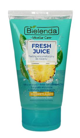 Bielenda Fresh Juice Peeling enzymatyczny rozświetlający z wodą cytrusową Ananas 150 g