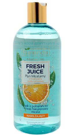 Bielenda Fresh Juice Płyn micelarny nawilżający z wodą cytrusową Pomarańcza 500 ml
