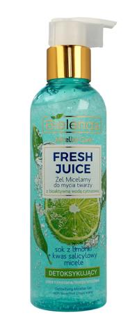 Bielenda Fresh Juice Żel micelarny detoksykujący z wodą cytrusową Limonka 190 g