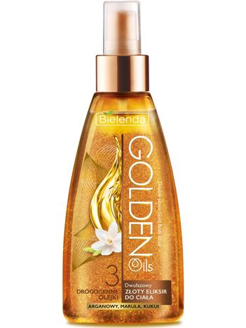 Bielenda Golden Oils Dwufazowy złoty eliksir do ciała 150ml