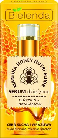 """Bielenda Manuka Honey Nutri Elixir Serum odżywczo-nawilżające na dzień i noc  30g"""""""