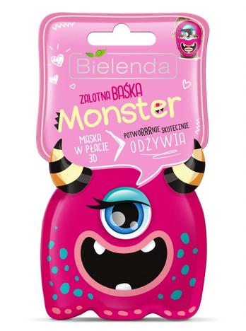 Bielenda Monster Maska w płacie 3D odżywcza Zalotna Baśka
