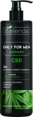Bielenda Only for Men Cannabis CBD Żel do mycia twarzy i zarostu 190 g