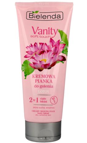 Bielenda Vanity Soft Touch Kremowa Pianka do golenia 2w1 Lotos 175g